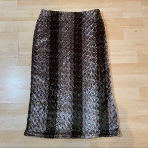 Faux fur pencil skirt